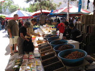 John K. and Nan at the marketplace in Kusadasi, Turkey