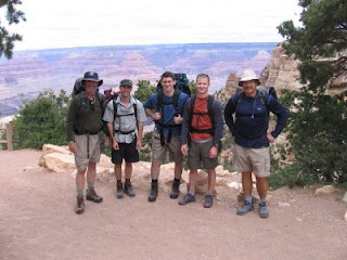 Rich, Jake, Rich, Wes and me at the South Kaibab Trailhead