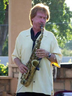 Bryan Savage playing saxophone at the Two Rivers Winery's Jazz among the Grapevines event