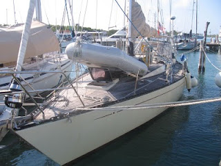 Quetzal slipped at Marina Paraiso next to Capt. Doug Dorn's boat