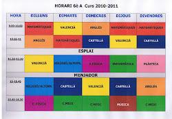Horari 2010 - 2011