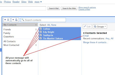 how to send email to multiple contacts