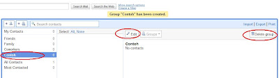 rename, delete a group in Gmail