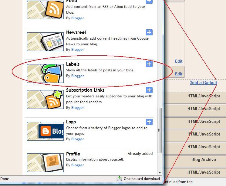 Cara membuat tag di blogger