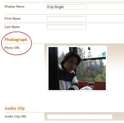 how to add photo to Blogger profile