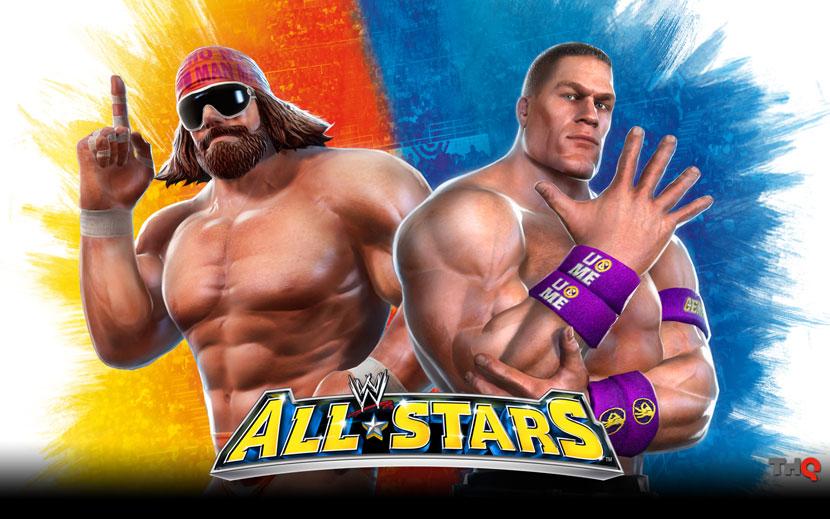 WWE All Stars John Cena And Macho Man Wallpaper Unleashed WWEWWE WallpapersWWE RAWWWE SmackDownWWE PPVs DVDs