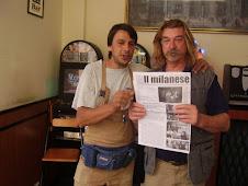 .. due baggesi con il giornale di Milano!