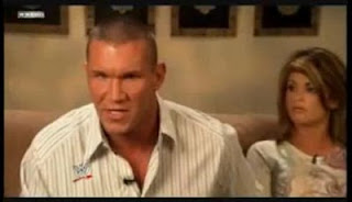 Randy Orton with Wife Samantha Speno on WWE Raw