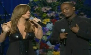 mariah carey and trey lorenz jackson memorial 2009