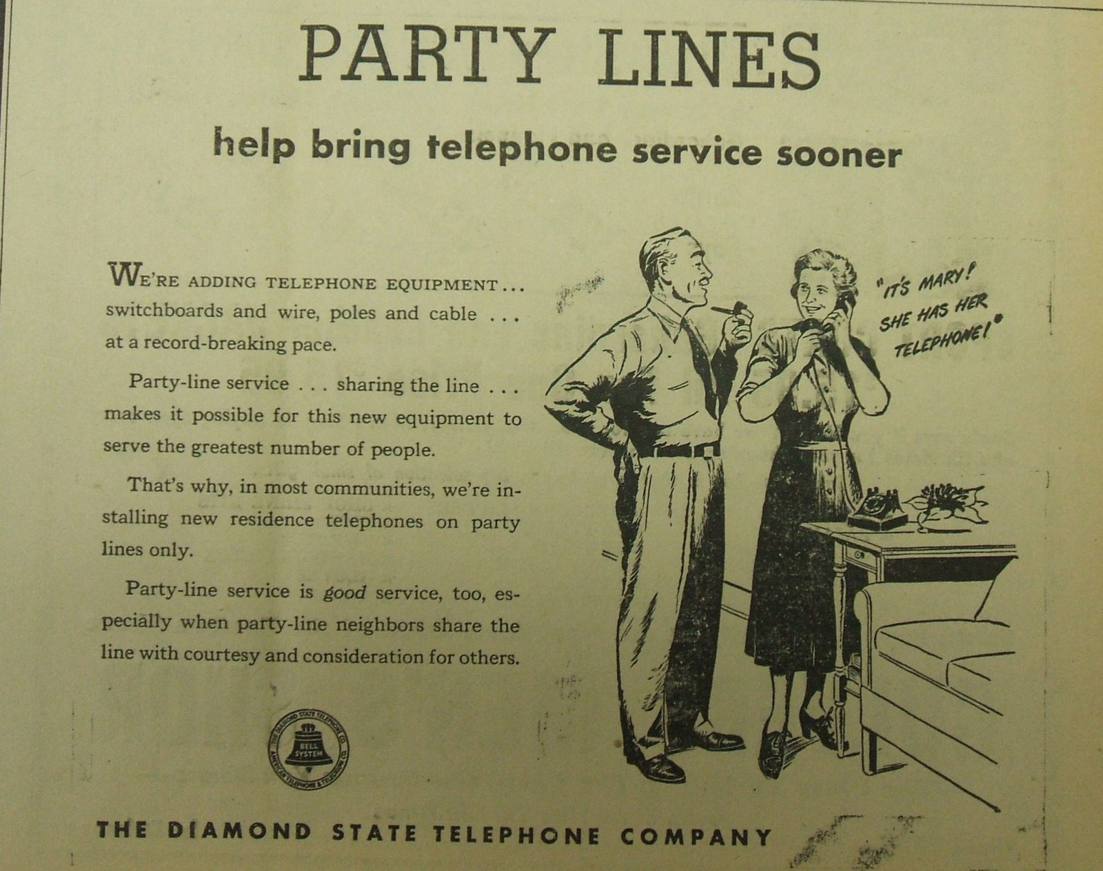 party lines telephone
