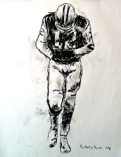 Quarterback, Quarteracks, football images, football art, Joe Namath