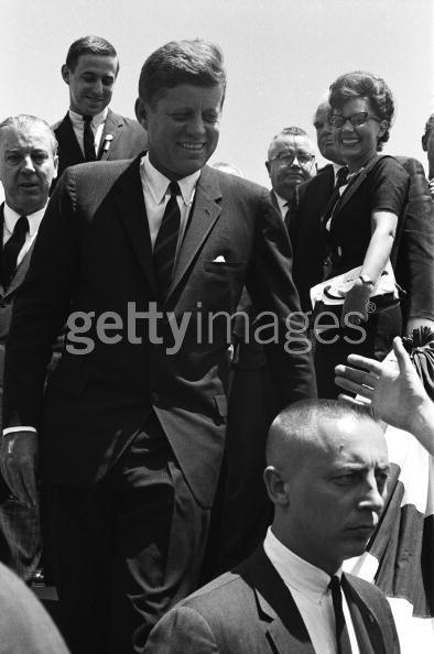 SA Ernest Olsson (bottom) with JFK