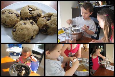 Samedi de cuisiner... des biscuits avoine et chocolat !