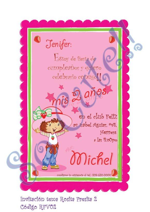 Tarjetas de cumpleaños rosita fresita para imprimir - Imagui