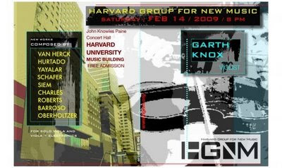 Garth Knox Harvard Poster