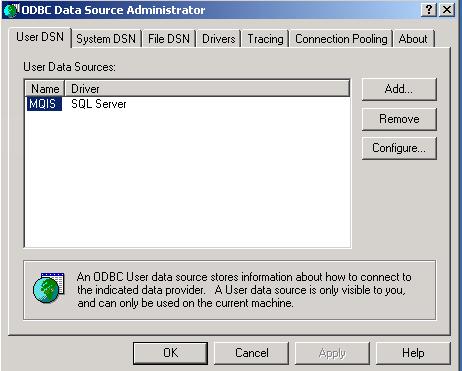 Selanjutkan akan ditampilakan kotak dialog ODHBC Data Source
