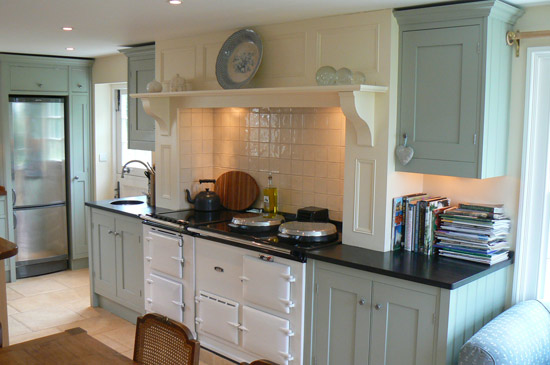 farrow and ball blue gray kitchen