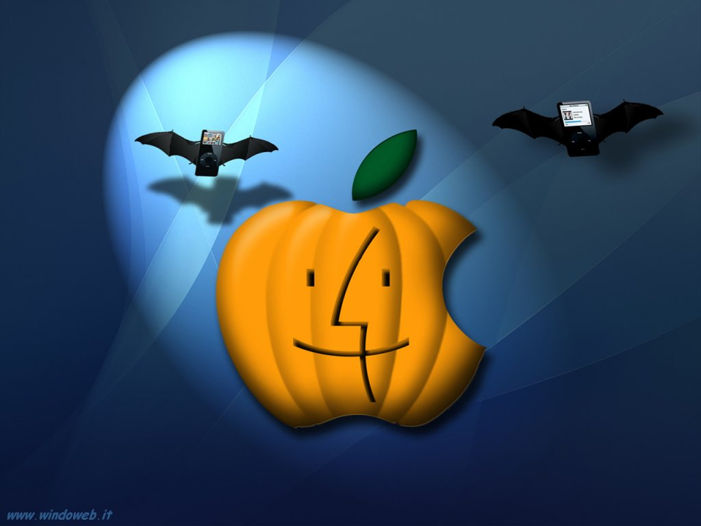 Halloween apple logo wallpaper