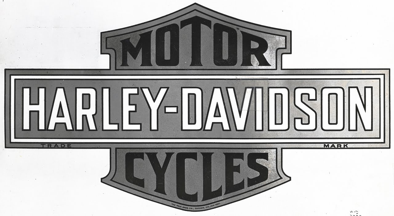 Harley Davidson Logo Black and white