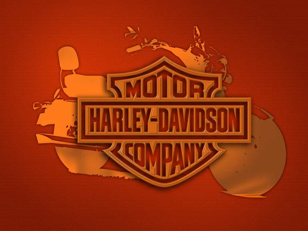Harley Davidson Logo in red colour