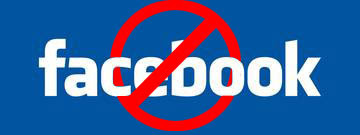 Anti Facebook Logo facebook banned