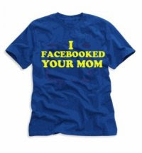 Anti Facebook Logo t shirt quote