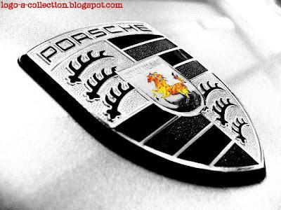 Porsche logo fire