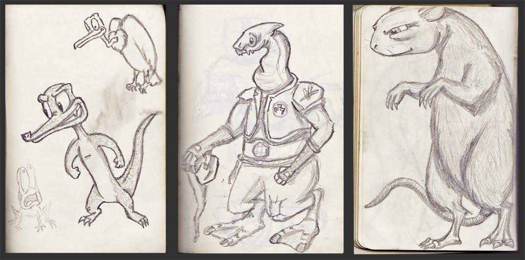 the Amateur Zoologist: Sketchbook Backlog