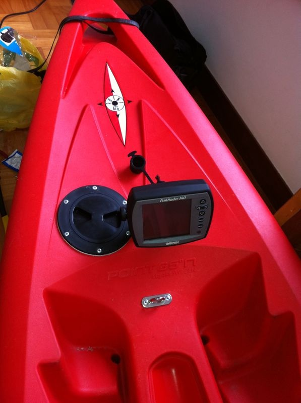tequila fish finder installation kayak fishing singapore