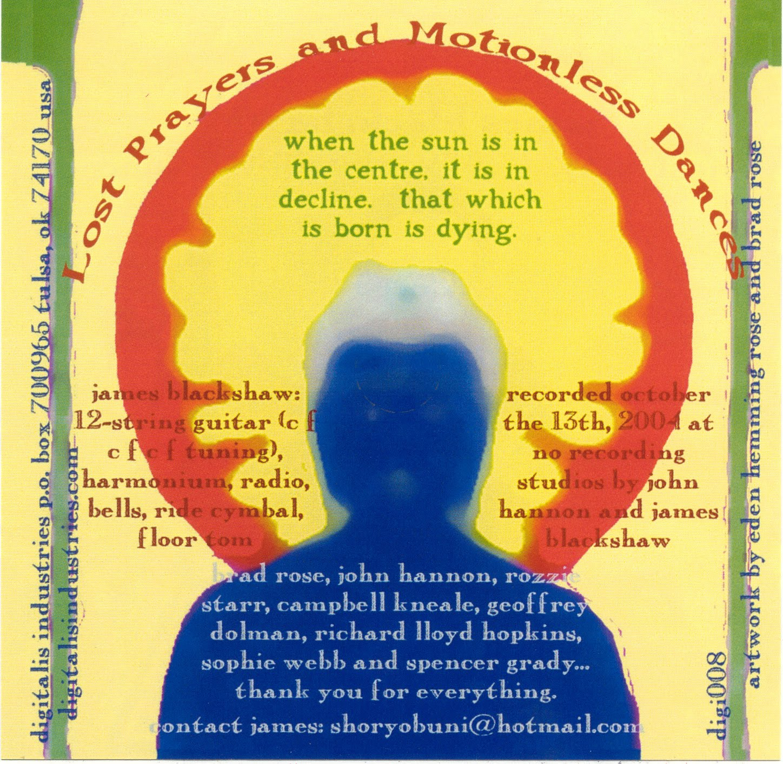 James Blackshaw Lost Prayers And Motionless Dances