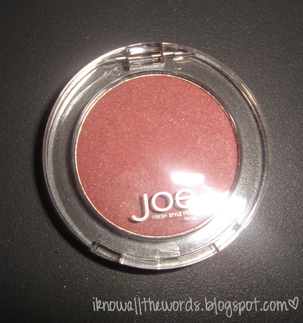 Review: Joe Fresh Blush - Plum | I Know all the Words