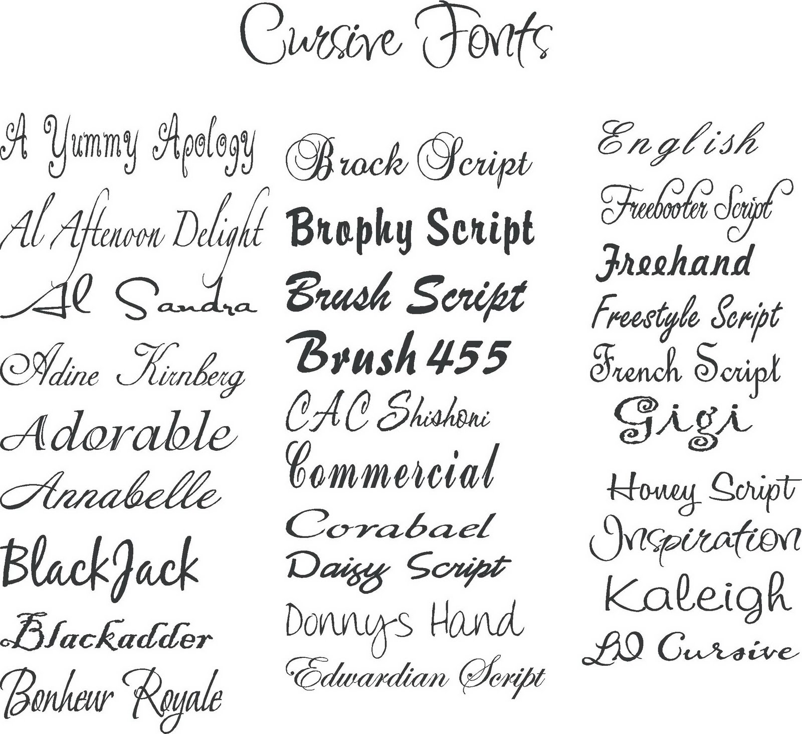 The Best Cursive Fonts for Tattoos eHow