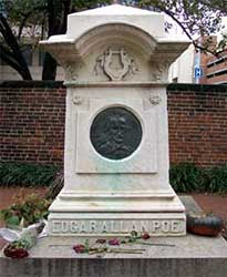 Grave of Poe in Baltimore