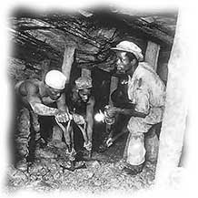 Miners in Crown goldmine, Johannesbur 1935