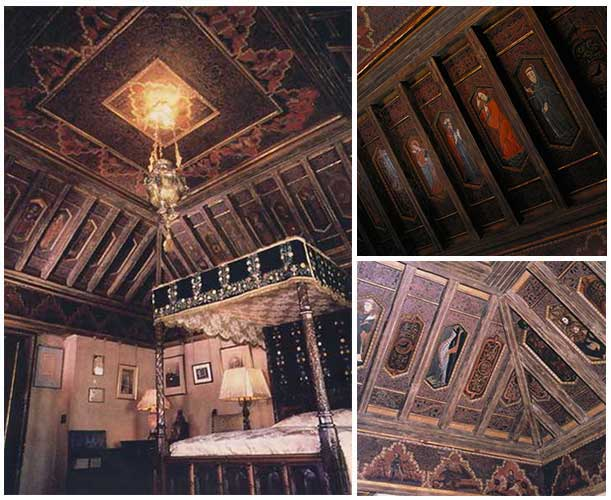 Hearst bedroom and ceiling
