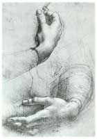 Da Vinci Study of Hands