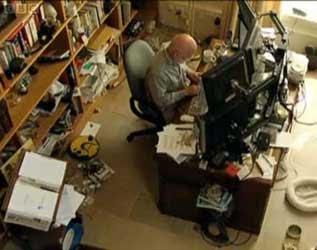 Terry Pratchett's study
