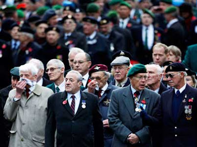 Veterans on Remembrance Sunday 2009