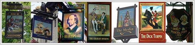 Popular names in pubs signs