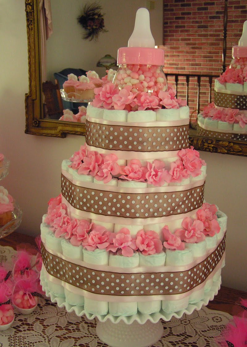 Canadian hostess blog make your own diaper cake for Baby shower decoration diaper cake