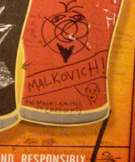 Malkovich graffiti in Shay's