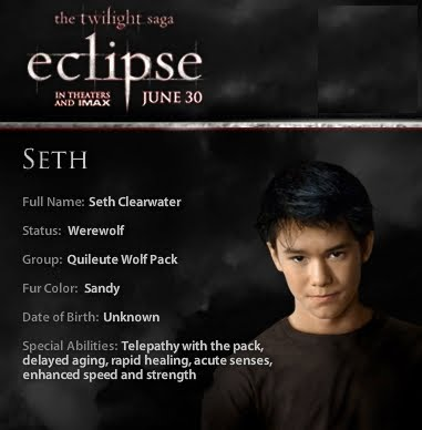 Twilight Eclipse Seth Clearwater : Teaser Trailer Twilight Wolf Pack Seth