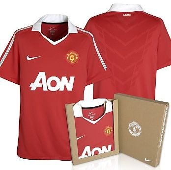5a5484f5a The Football Kit Room  2010-11 Manchester United Authentic Home Kit