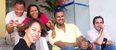 Dayane Sena (primeiro plano), Geraldo Seara, Cristiane Britto, Marcus Leone e Armando Castro.