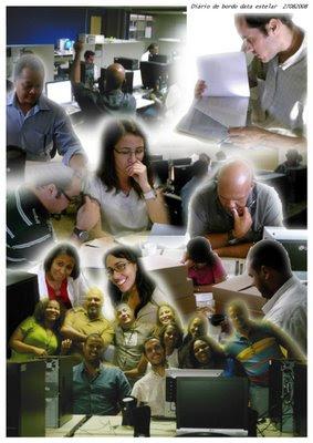 Educadores da TV AT. Arte: Geize Oliveira. Clique para ampliar.