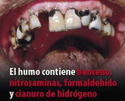 Tabaco, la imagen de la muerte