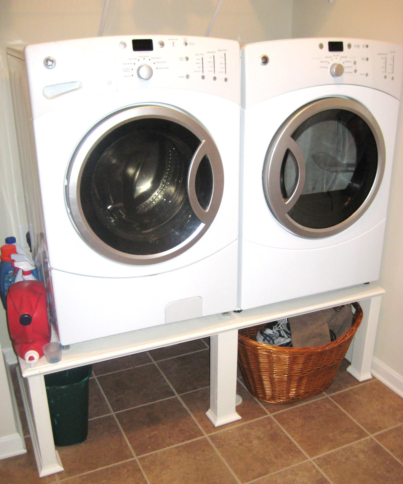 savvy chic home easy washer and dryer stand tutorial diy was
