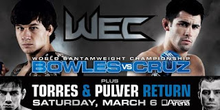 WEC 47 - Bowles vs Cruz - Card e Resultados