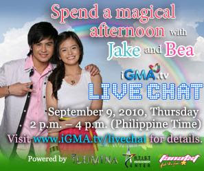 Jake Vargas & Bea Binene in iGMA Live Chat on September 9, 2010