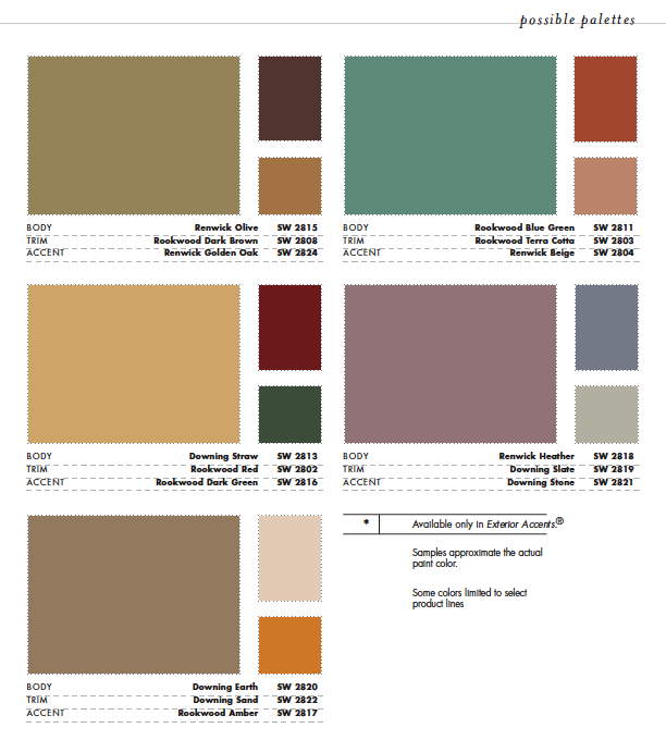 Sherwin williams color schemes 2017 grasscloth wallpaper for Home outside palette